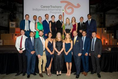 GPT's CareerTrackers interns and mentors at this year's CareerTrackers Gala Ball in Sydney
