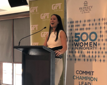 GPT's Amy Ng at the 500 Women in Property launch in Sydney